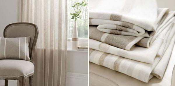 neutral coloured voile curtains